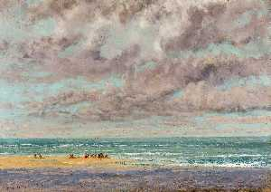 Gustave Courbet - marine-les equilleurs