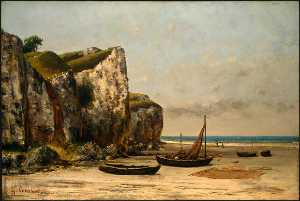 Gustave Courbet - Strand in der Normandie