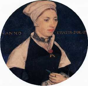 Hans Holbein The Younger - Frau . Pemberton