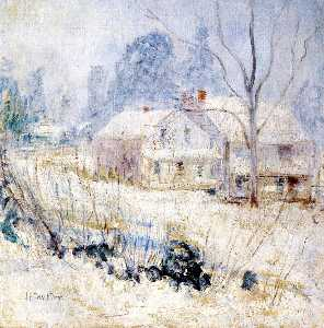 John Henry Twachtman - land haus in winter