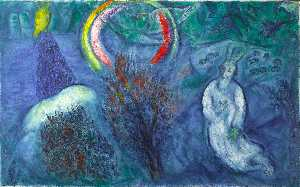Marc Chagall - Moses mit dem brennenden ..
