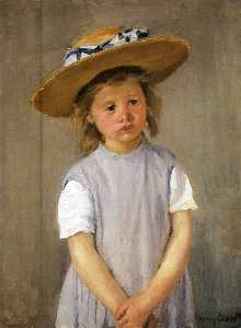 Mary Stevenson Cassatt - Kind in einem Strohhut