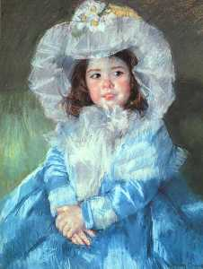 Mary Stevenson Cassatt - Margot im Blau