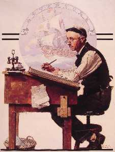 Norman Rockwell - daydreaming bookeeper ( Abenteuer )