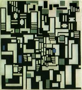 Theo Van Doesburg - komposition ix , opus 18 , 191..