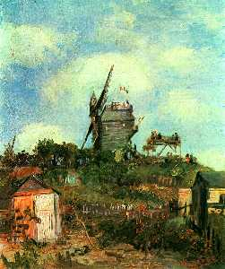 Vincent Van Gogh - le moulin von der Gallette 3