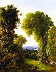 William Mason Brown - flusslandschaft an  Sommer