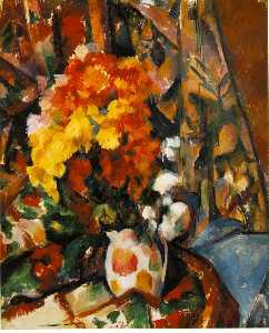 Paul Cezanne - chrysanthemen ( vase fleuri ) -