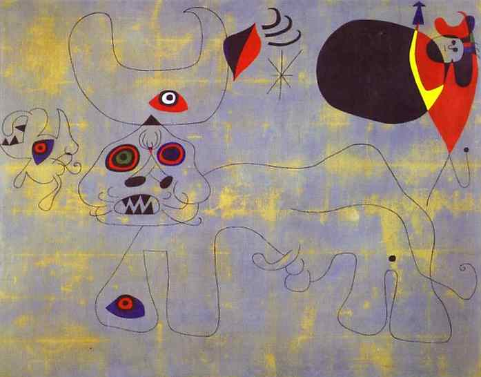Die Bull Fight, 1945 von Joan Miro (1893-1937, Spain) | ArtsDot.com