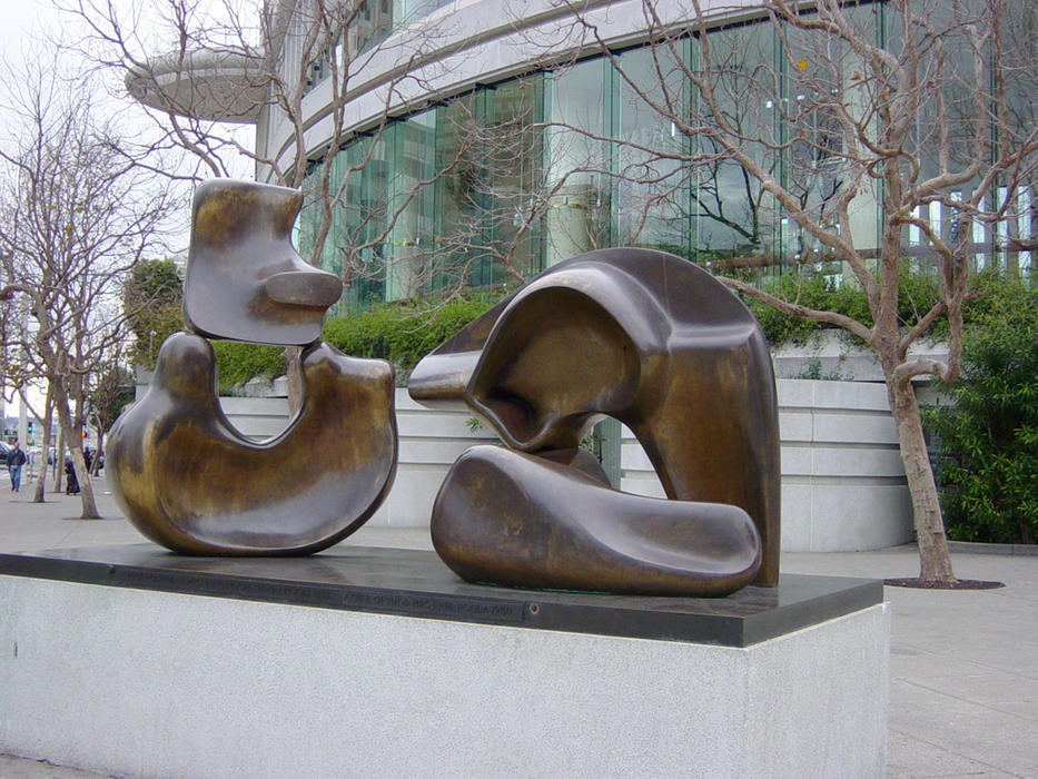 henrymoore5piecefigure, skulptur von Henry Moore (1898-1986, United Kingdom)