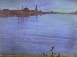 James Abbott Mcneill Whistler - Nocturne in Blau und Silber