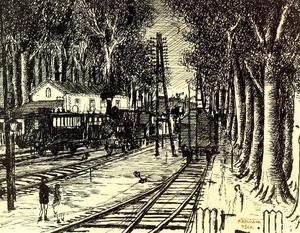 Paul Delvaux - wald station