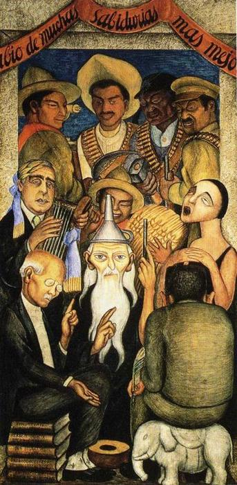 Die Learned, freskos von Diego Rivera (1886-1957, Mexico)
