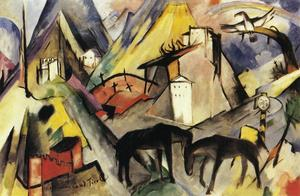 Franz Marc - Die Unfortunte Land Tirol