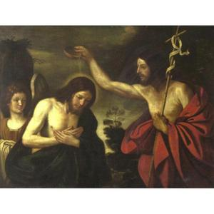 Guercino (Barbieri, Giovanni Francesco) - Taufe Christi