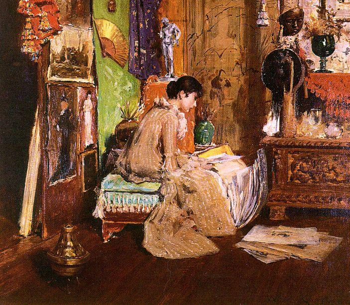 in der studio ecke von William Merritt Chase (1849-1916, United States) | ArtsDot.com