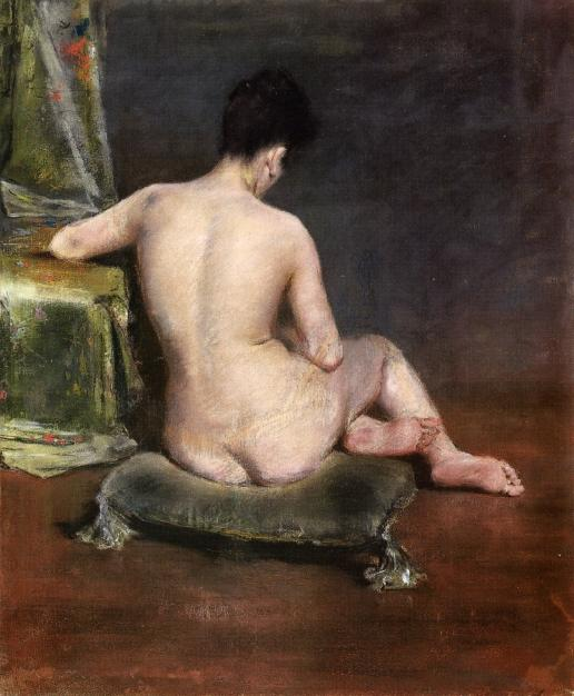 Pure (aka The Model), pastell von William Merritt Chase (1849-1916, United States)