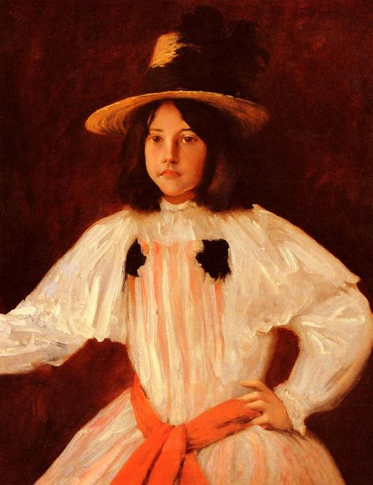 Die Red Sash, 1895 von William Merritt Chase (1849-1916, United States) | ArtsDot.com