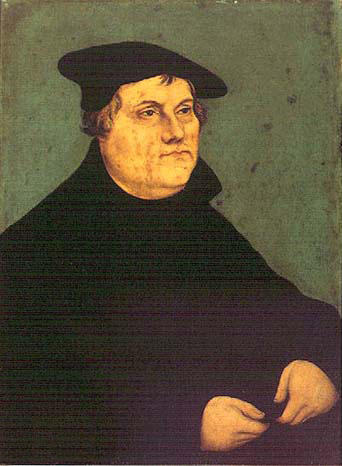Portraits von Martin Luther 1, öl von Lucas Cranach The Elder (1472-1553, Germany)