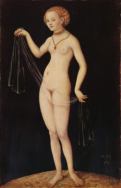 Venus, öl von Lucas Cranach The Elder (1472-1553, Germany)