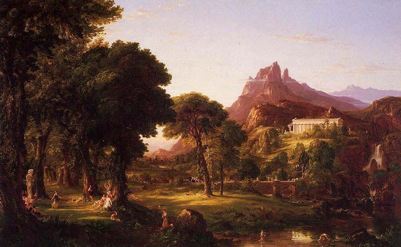 Dream of Arcadia, öl auf leinwand von Thomas Cole (1801-1848, United Kingdom)