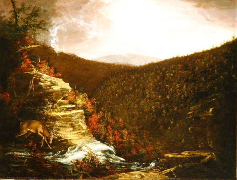 Vom Top of Kaaterskill Falls, öl auf leinwand von Thomas Cole (1801-1848, United Kingdom)