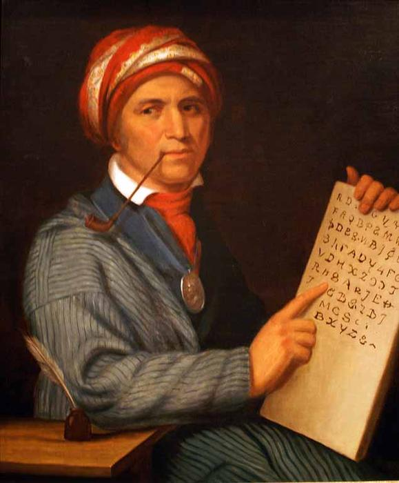 Sequoyah, öl von Charles Bird King (1785-1862, United States)