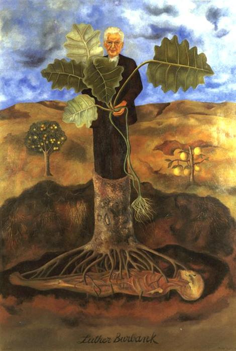 luther burbank, öl von Frida Kahlo (1907-1954, Mexico)