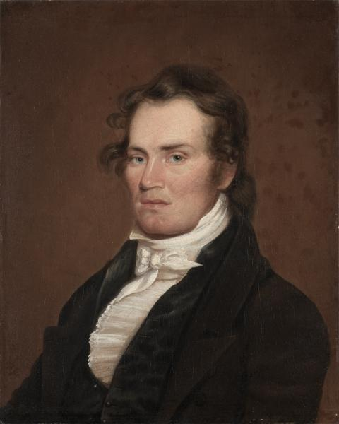 James G. McKinney, öl von Matthew Harris Jouett (1788-1827, United States)