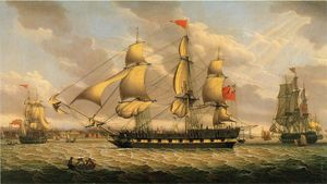 Robert Salmon - Britische Merchantman in ..