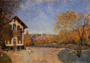 Alfred Sisley - ansicht von marly le roi vom house at coeur colant