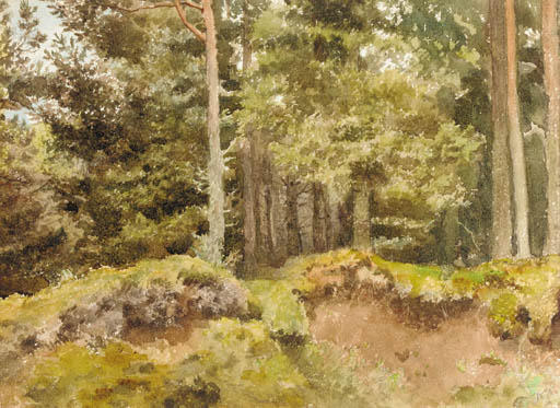 Ein Essex Holz, Aquarell von Archibald Thorburn (1860-1935, United Kingdom)