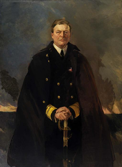 admiral sir david beatty , herr beatty 1, öl von Cecilia Beaux (1855-1942, United States)
