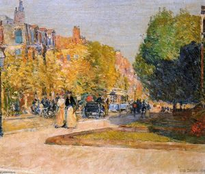 Frederick Childe Hassam - Marlborough Straße , Bost..