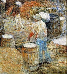 Frederick Childe Hassam - New York Hod Carriers