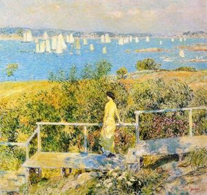 Frederick Childe Hassam - Yachts, Gloucester Harbor