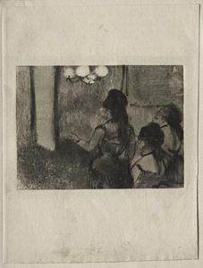 Edgar Degas - in der salon