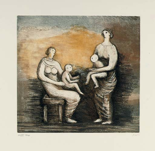 mutter und kind von Henry Moore (1898-1986, United Kingdom) | ArtsDot.com