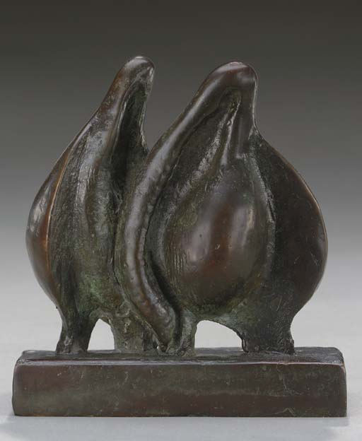 Twins, öl von Henry Moore (1898-1986, United Kingdom)