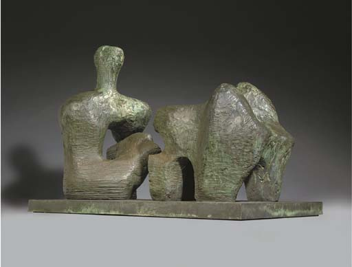 Two Piece Reclining Figure, No. 4 von Henry Moore (1898-1986, United Kingdom) | Kunstdrucke Auf Leinwand | ArtsDot.com