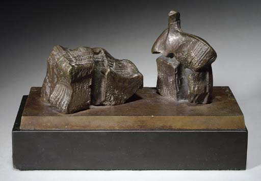Two Piece Reclining Figure; Maquette No. 1, öl von Henry Moore (1898-1986, United Kingdom)