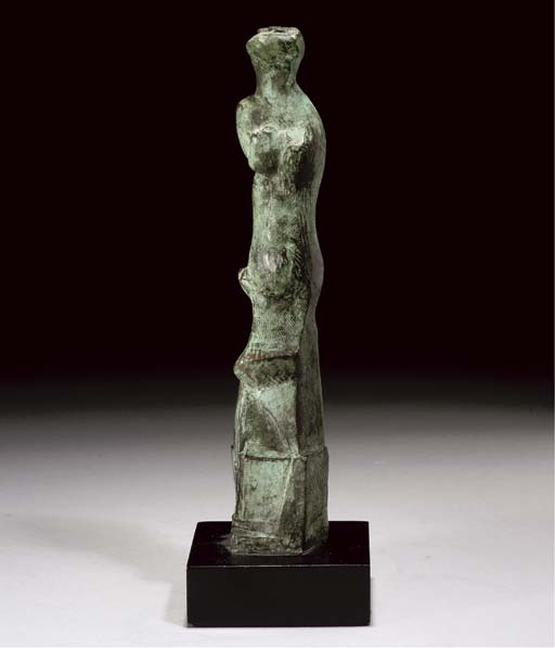 Upright Motive D, gravieren von Henry Moore (1898-1986, United Kingdom)