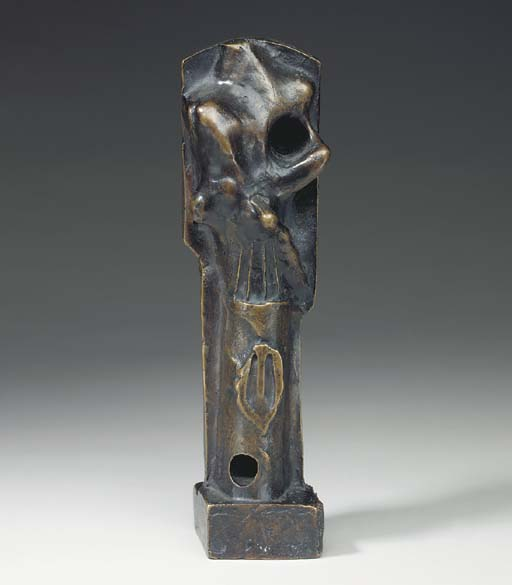 Upright Motive. Maquette No. 3, skulptur von Henry Moore (1898-1986, United Kingdom)