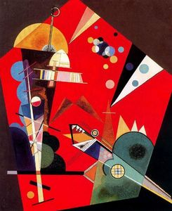 Wassily Kandinsky - Spannung in rot