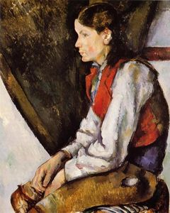 Paul Cezanne - Boy in einer roten Weste 3