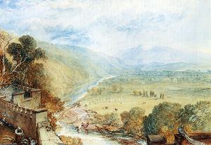 William Turner - Ingleborough von der Terrasse des Hornby Castle