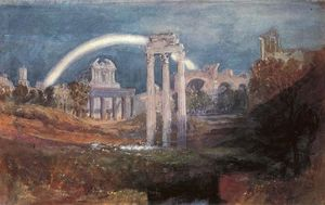 William Turner - Rom , das forum mit ein Regenbogen