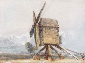 David Cox - windmühle in ein landschaft