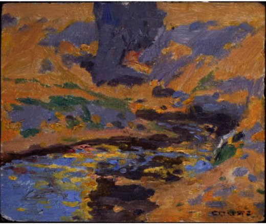 Taos Canyon Creek, zeichnung von Eanger Irving Couse (1866-1936, United States)