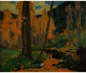 Eanger Irving Couse - Up Taos Canyon
